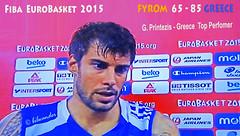 FIBA EUROBASKET 2015 * FYROM 65 - 85 GREECE * G, PRINTEZIS,