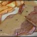 Solomillo de ternera con salsa de pimienta /  Sirloin steak with pepper sauce