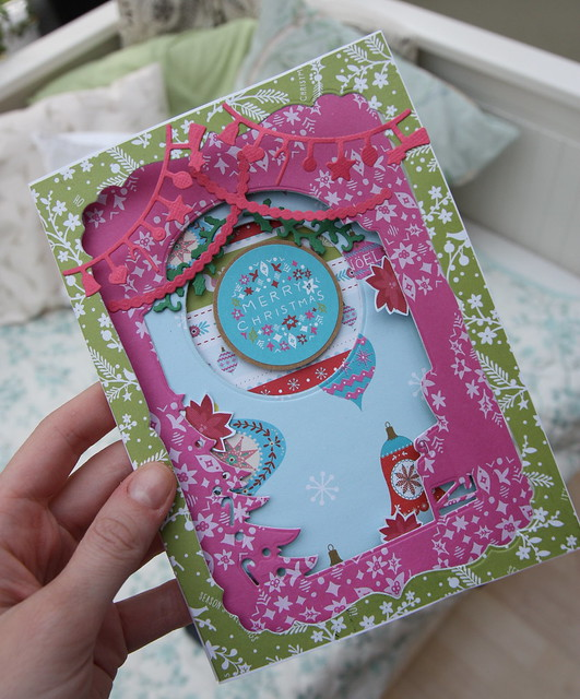 Folk Christmas Aperture Card | StickerKitten.co.uk