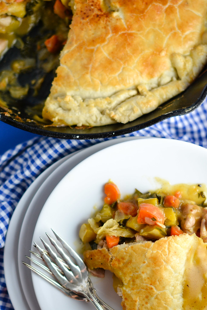 Skillet Chicken Pot Pie with Winter Squash and Kale   Things I Made Today