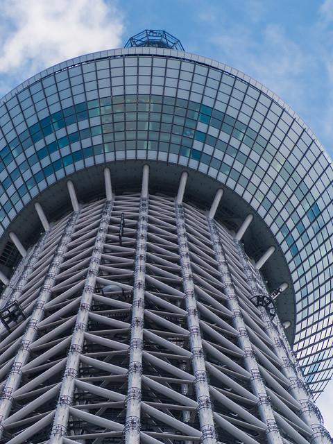 Tokyo Sky Tree observation room zoom up