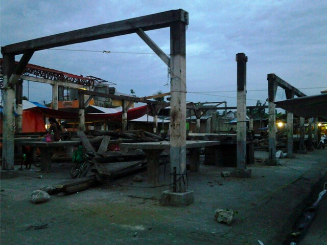 MacArthur Public Market sustained extensive damage during Super Typhoon Yolanda