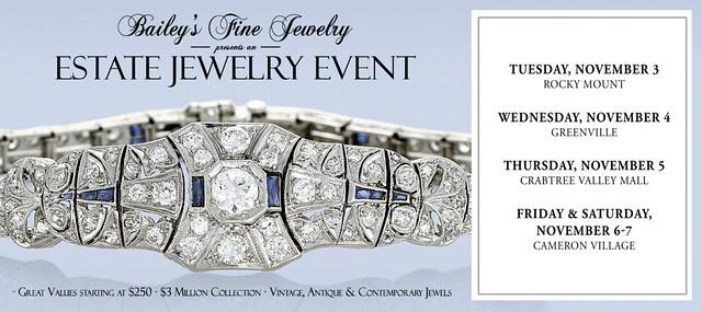 Bailey's Fine Jewelry Estate Jewelry Event