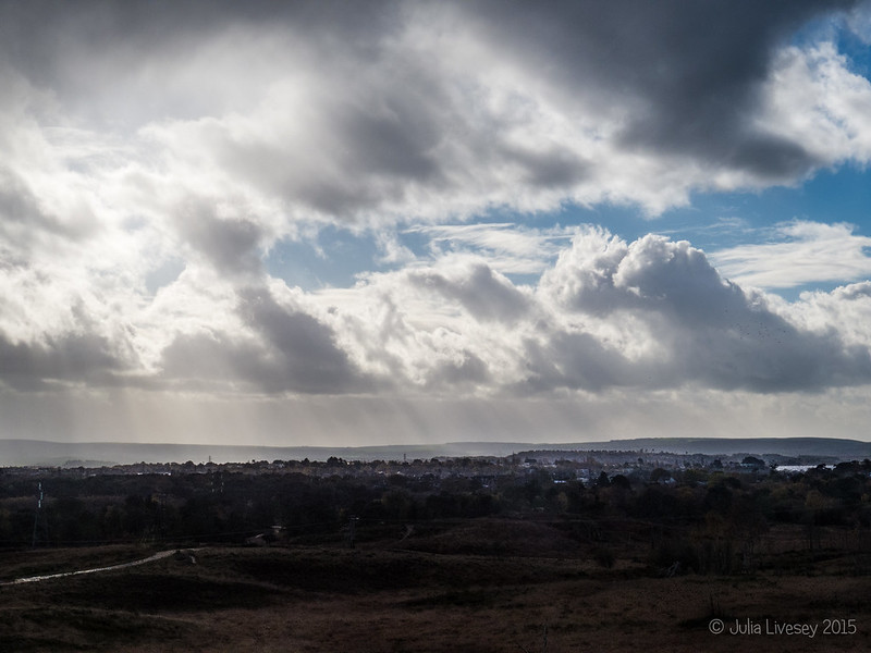 Clouds and sunshine over Poole Harbour