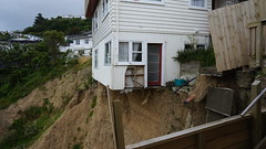 Landslide Houses, Wellington. NZ.