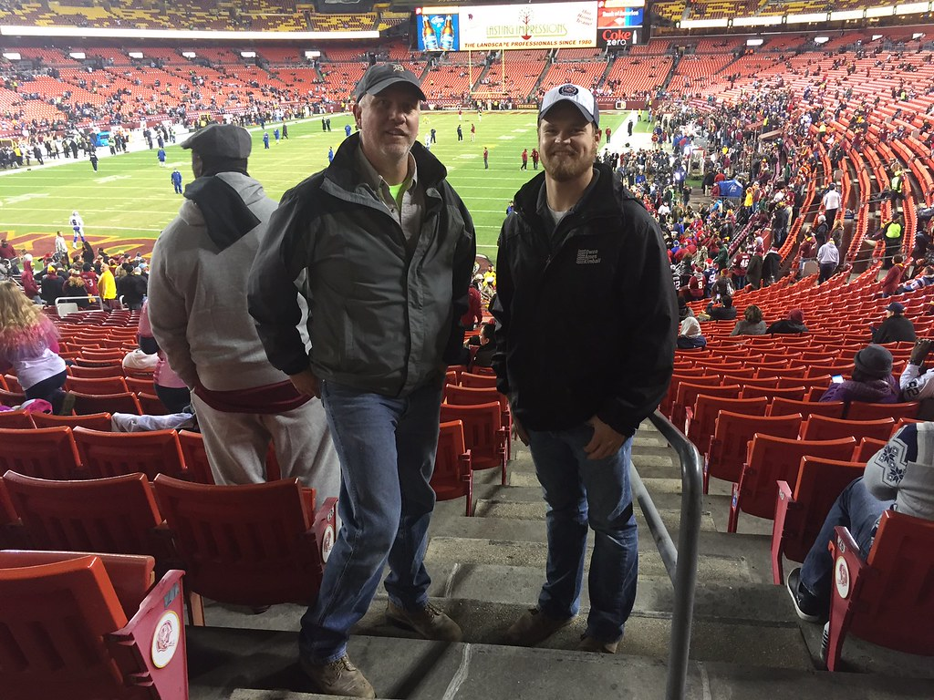 Joe LaFave & Kelly Bublitz stomping for votes in Washington DC.  We are working on a Herman Miller showroom in DC. Out checking out the city and just so happened to be a Monday Night Football game tonight.