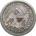 1845 Quarter reverse