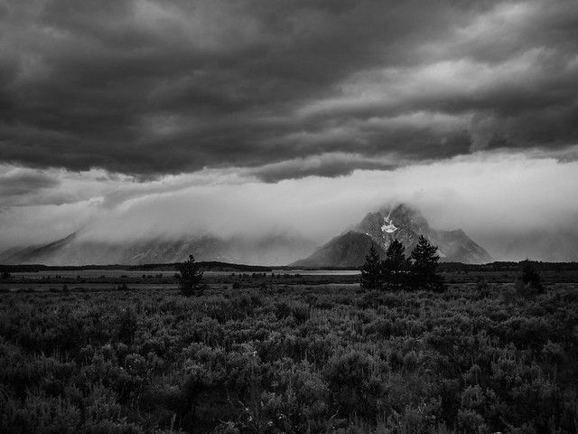 Storm over the Teton Mountains
