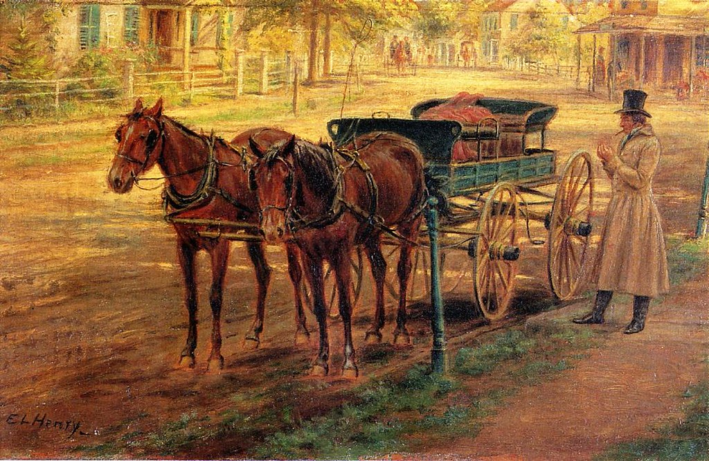 Horse and Buggy by Edward Lamson Henry