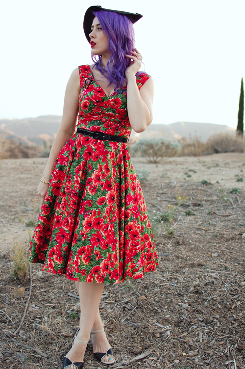 Bernie Dexter Saturday Night Dress in Poppy Print