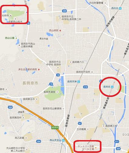 長岡京地図