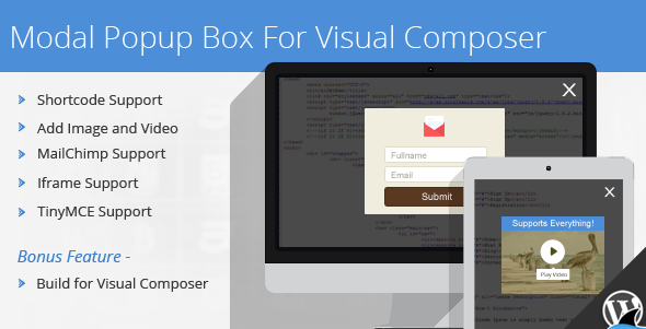 Modal Popup Box For Visual Composer v1.4.4