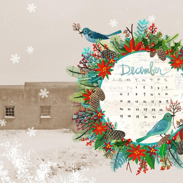 December Desktop Calendar