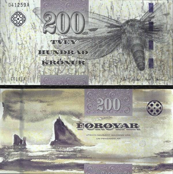 200 faerských  korún Faerské ostrovy 2011