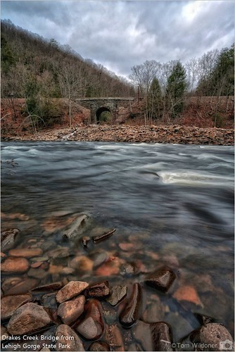 park railroad bridge autumn trees mountain mountains nature water stone creek canon flow timelapse rocks december waves pennsylvania border pa filter environment rockport lehighriver 2015 lehighgorgestatepark canon6d drakescreek tomwildoner