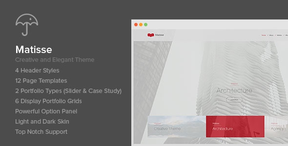 Themeforest Matisse v1.1 - Creative & Elegant Theme