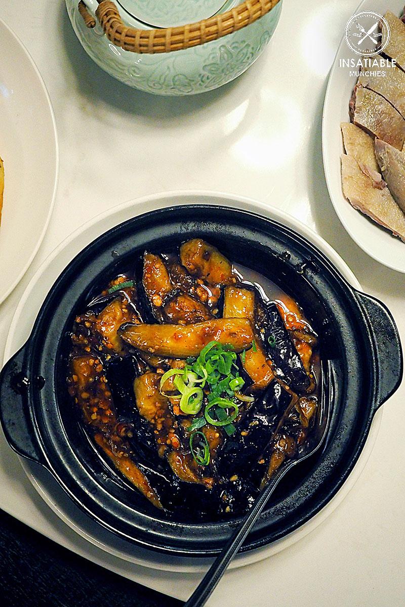 Eggplant & Pork Mince in Sweet Chili Vinegar, Taste of Shanghai, World Square. Sydney Food Blog Review