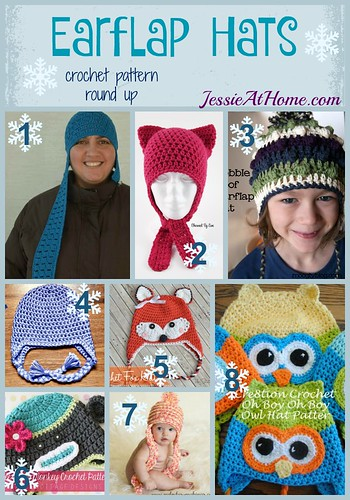 5cbef0d25f8 Earflap Hats free crochet pattern round up by Jessie At Home