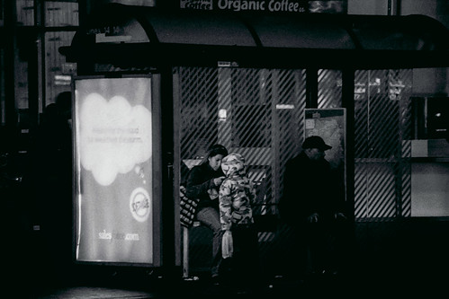 Night at the bus stop