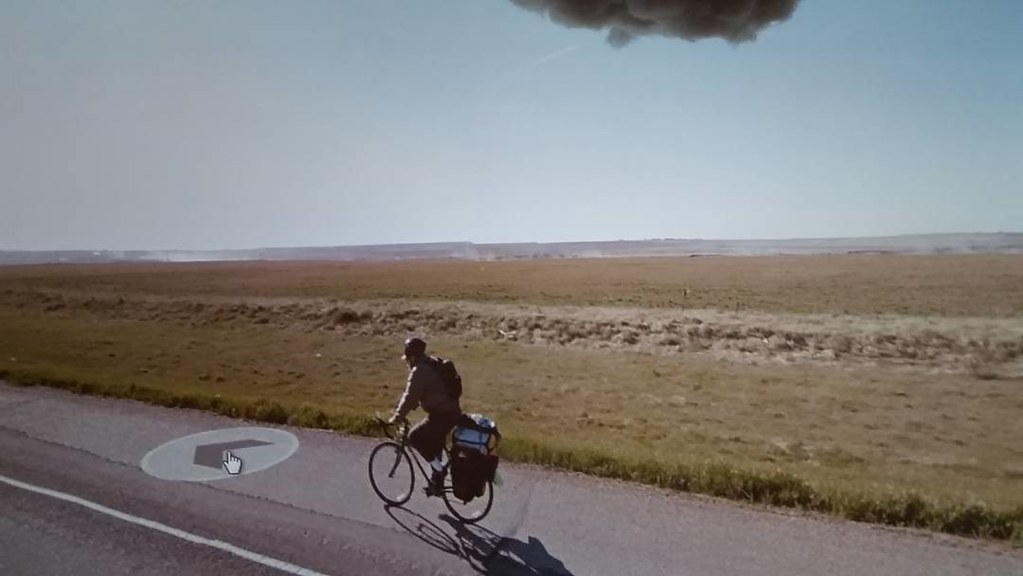 You are remarkable fellow cyclist! #may2015 #ridingthroughwalls #googlestreetview #xcanadabikeride #cycling