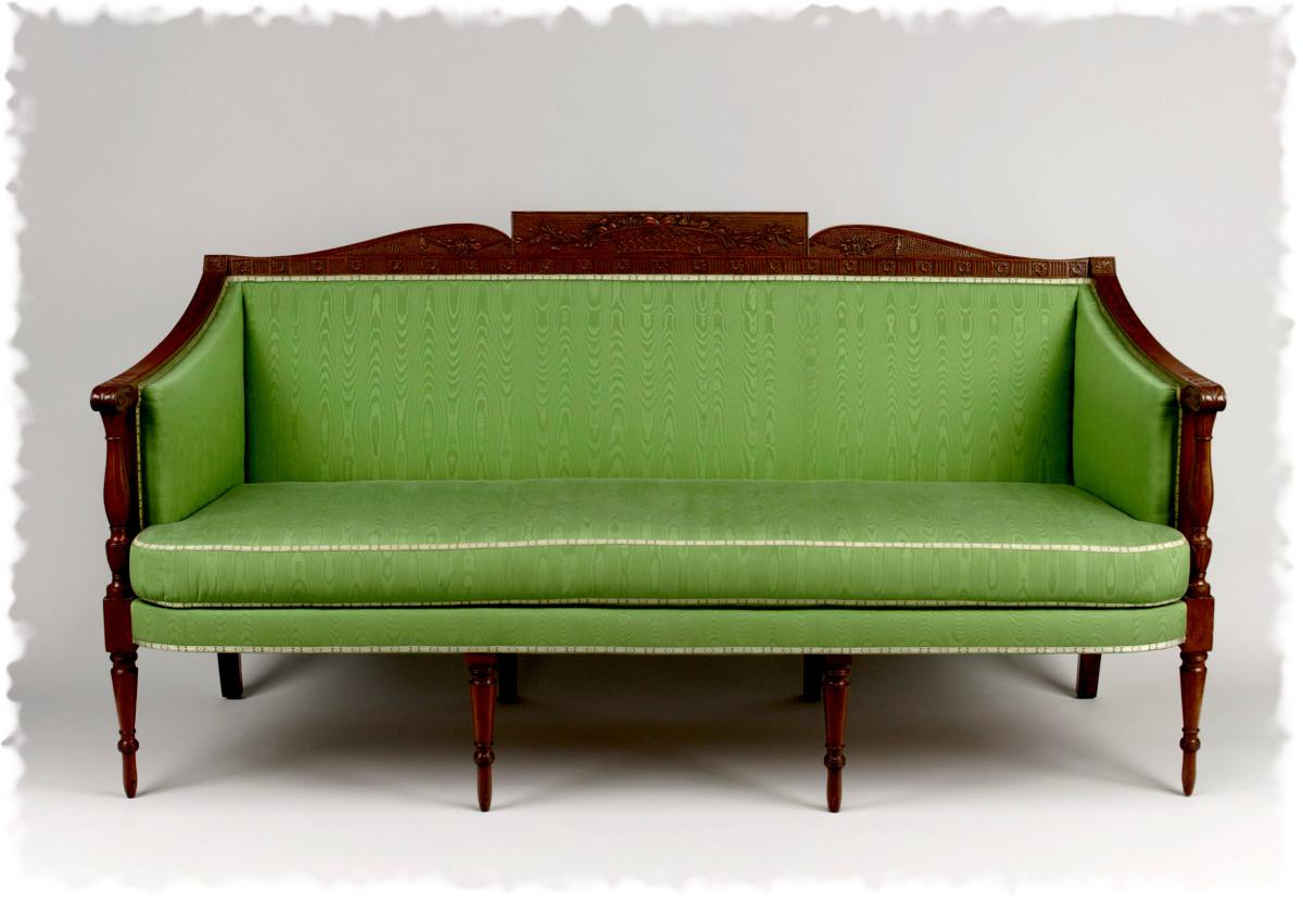 1800 Sofa. American. Mahogany, white pine, birch. metmuseum