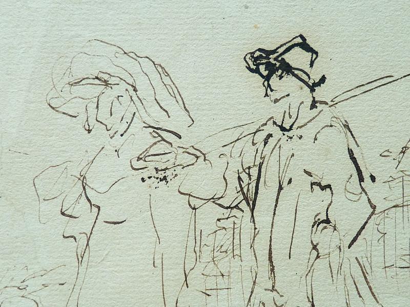 MILLET Jean-François,1850 - Départ pour le Travail, Etude - The Walk to Work  (drawing, dessin, disegno-Louvre RF11191) - Detail 36