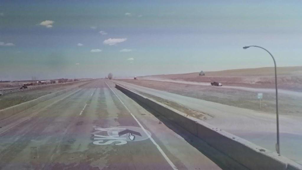 #ridingthroughwalls on the road leaving Moose Jaw. #googlestreetview #xcanadabikeride #Saskatchewan