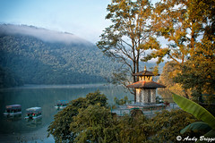 Hindu temple on Lake Phewa
