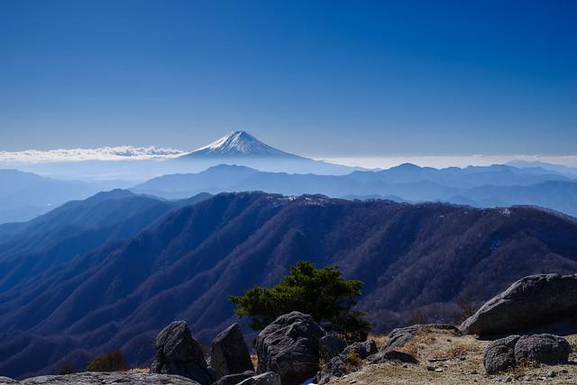 展望ポイントより仰ぐ富士山