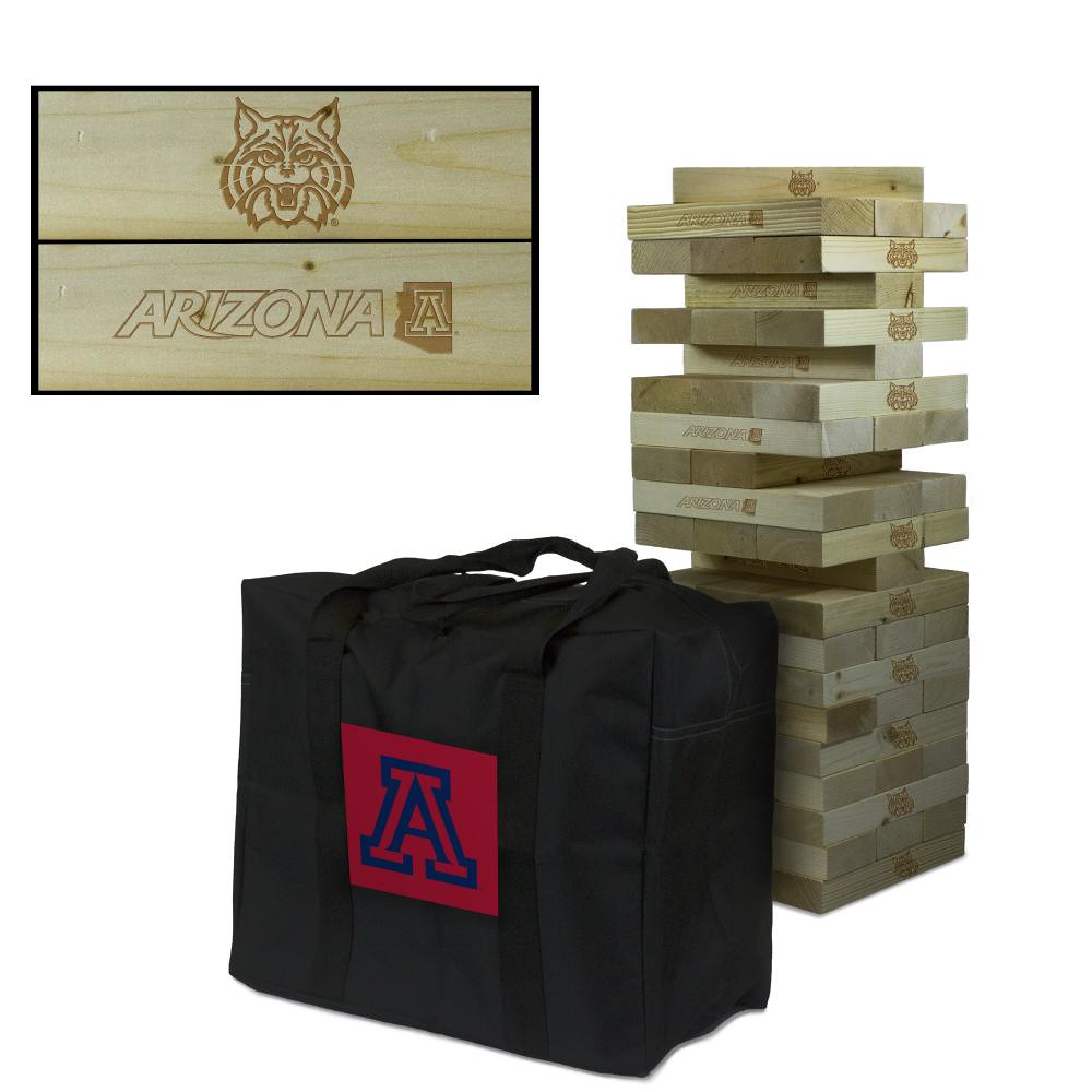 Arizona University Wildcats Wooden Tumble Tower Game