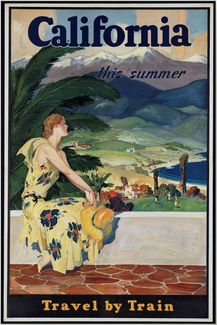 Vintage Travel Poster: California,  This Summer, Travel By Train.