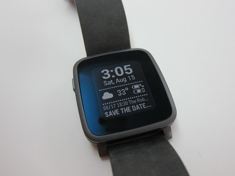 Pebble Time Steel Watch - Smart Status App