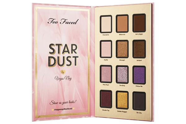 Too Faced Stardust by Vegas Nay Eyeshadow Palette Review and Swatches
