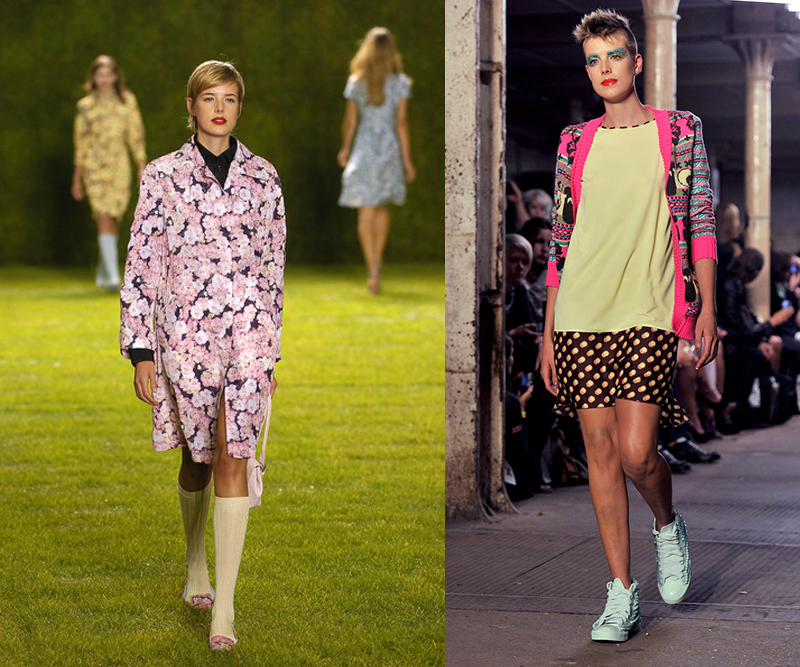 AGYNESS DEYN - At the Paul Smith show in 2004, and the Giles Spring/Summer 2011 show in 2010.