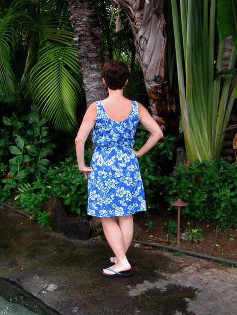 back on me blue batik