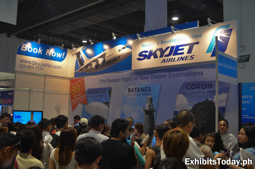 Skyjet Airlines Exhibit Booth