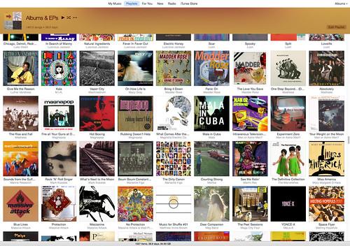 iTunes albums playlist