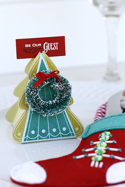 Christmas Tree Change Up Box and Stamps Place Card Holder