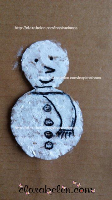Como hacer muñeco de nieve