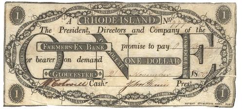 RI, Gloucester-Farmers Exchange B-$001 1806 cjf