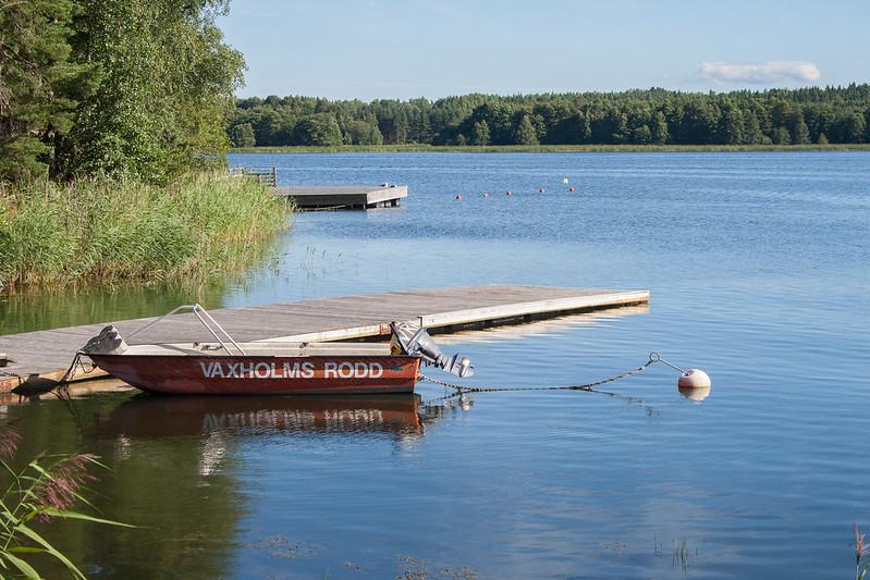 Kayak hire place at Erikso, Vaxholm