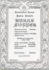Corstorphine branch SNP Burns Supper programme. 1977