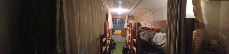 My bunk is at far upper right. Nui. Hostel.