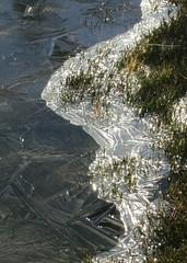 Frozen alpine puddle