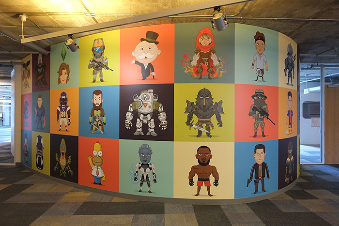 Christopher Lee mural at EA