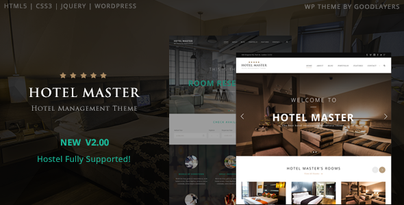 Hotel Master v2.09 - Hotel Booking WordPress Theme
