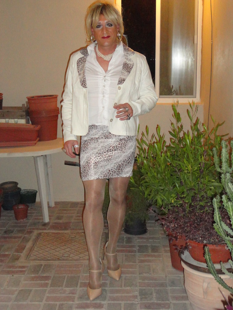 sexy Crossdresser Strumpfhose