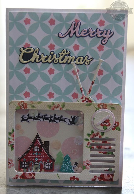"""Merry Christmas"" shaker card and minaiture lantern"
