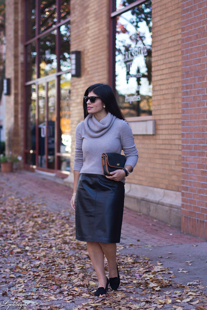 cowl neck sweater, leather pencil skirt, black heels-2.jpg