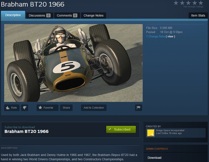 workshop - rFactor 2 available on Steam